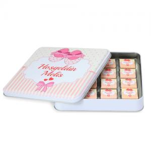 Hosgeldin-baby-meisje-metalen-doos-48-chocolaatjes